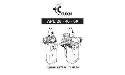 APE25/40/60 használati utasítás és árjegyzék